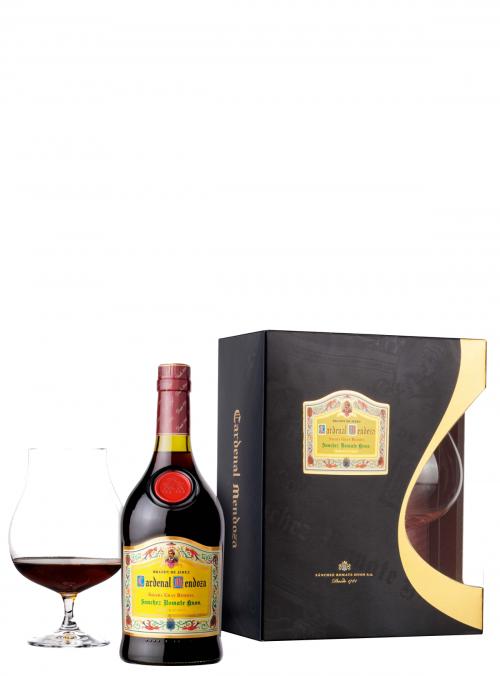 Brandy Cardenal Mendoza Gran Reserva + Bicchiere