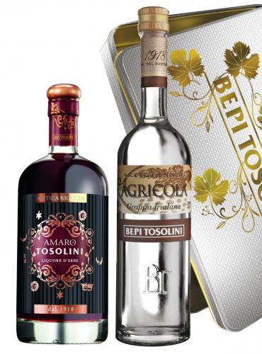 Cofanetto Tosolini Amaro e Grappa Agricola