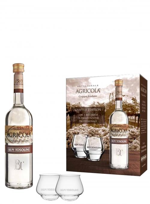 Grappa Agricola Friulana + Bicchieri