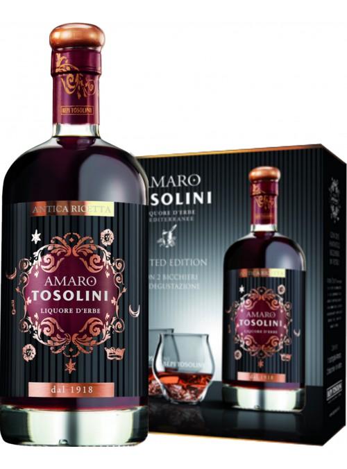 Amaro Tosolini + due bicchieri